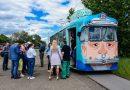 Kazan'da yemekli retro tramvay çalışmaya başladı