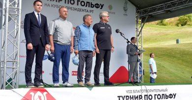 Bakan Mevlüt Çavuşoğlu Tataristan'daki Golf turnuvası açılış törenine katıldı.